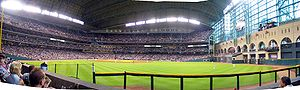 Panoramic interior view of the Minute Maid Par...
