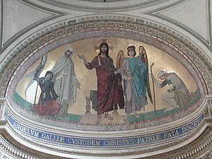 Ernest Hébert - Mosaic in the apse of the Panthéon (Paris)