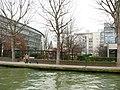 Pantin, Canal de l'Ourcq, CNFPT, église.JPG