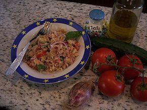 Panzanella e ingredienti