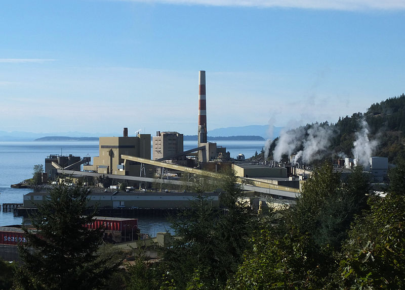 The Powell River Paper Mill established in 1909 (current owned by Catalyst Paper)  and was the bellwether for the establishment of the town.