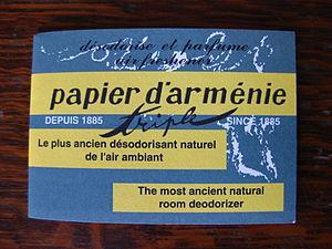 Papier d'Arménie - Booklet of papier d'Armenie