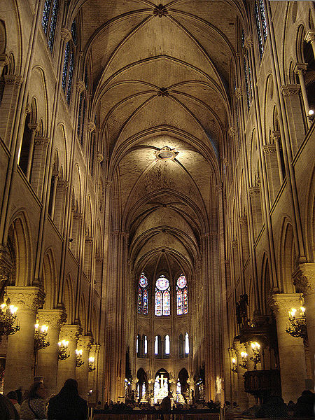 File Paris Notre Dame Cathedral Interior Nave East 01a Jpg