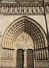 Paris Notre-Dame west facade - Portail du Jugement Dernier.jpg