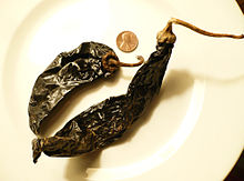 Peppers, pasilla, dried