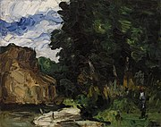 Paul Cézanne - River Bend (Coin de rivière) - BF973 - Barnes Foundation.jpg