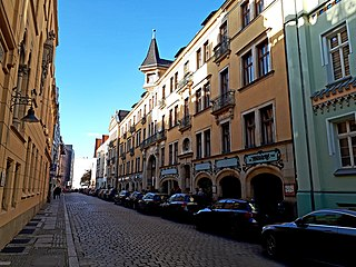 Four Denominations District Area of the Old Town in Wrocław, Poland