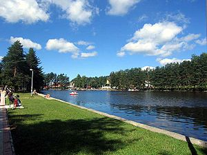 Zlatibor - Lake in the center of Kraljeva Voda