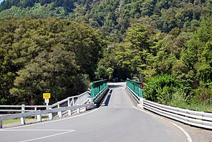 New Zealand State Highway 6 - State Highway 6 crossing the Pelorus River in Marlborough