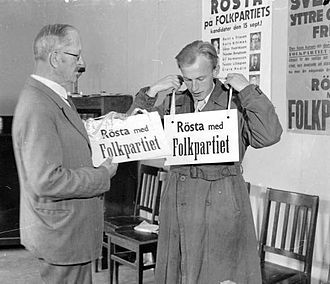 Liberals (Sweden) - People's Party election workers, 1940 election
