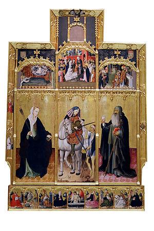 Altarpiece of Saints Ursula, Martin and Anthony - Image: Peris Sarria 02