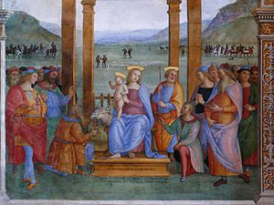 Trevi, Umbria - Adoration of the Magi by Perugino.