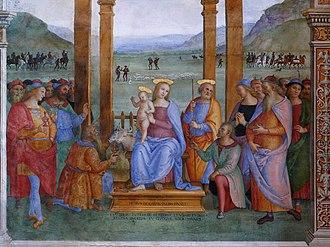 Trevi, Umbria - Adoration of the Magi by Perugino.