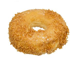 Coconut doughnut - Image: Peter Pan Bakery Donut Toasted Coconut