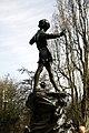 Peter Pan statue in Kensington Gardens in the City of Westminster in London, spring 2013 (4).JPG