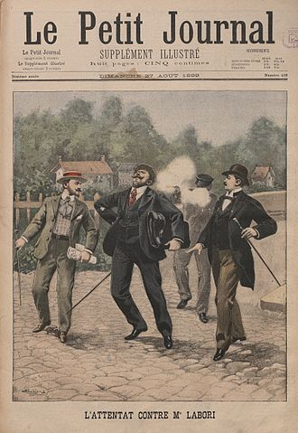 Fernand Labori - The assassination attempt on Fernand Labori on the front page of Le Petit Journal