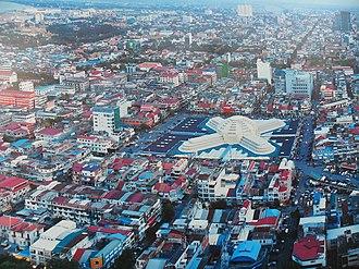 Central Market, Phnom Penh - Aerial view