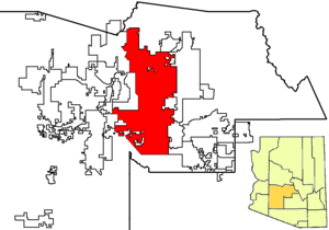 Phoenix in Maricopa County map.png