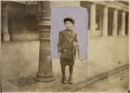 "Photograph of a 7 year old news-boy (William Parralla, 313 2nd Street, S.W.), without a badge, who tried to ""short... - NARA - 306629.tif"
