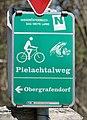 Pielachtalradweg sign, Weinburg.jpg