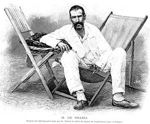 Pierre Savorgnan de Brazza - Drawing of de Brazza (23 February 1895).