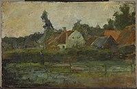 Piet Mondriaan - Farm buildings with fence in foreground - 0333469 - Kunstmuseum Den Haag.jpg