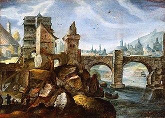Pieter Stevens II - A Capriccio View of a City (possibly Prague)