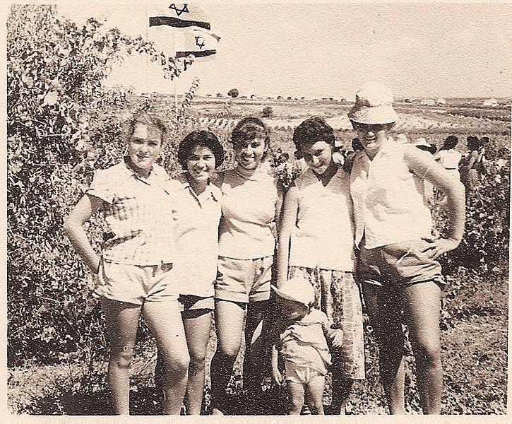 גבעת עדה בנות המושבה ביום ביקור הנשיא בן צבי