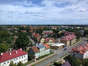 Pisz - Panorama of the town