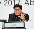 Piyush Goyal addressing at the Ministerial round-table of the International Renewable Energy Agency on catalysing off grid renewable energy, in Abu Dhabi, UAE.jpg