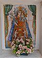 Plafó ceràmic de la mare de Déu dels Desemparats a l'ermita de Vera.JPG