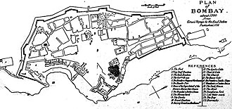 History of Bombay under British rule (1661–1947) - Plan of Bombay, 1760