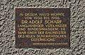 Plaque Adolf Schärf, Skodagasse 1, Vienna.jpg