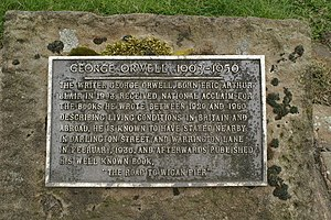 English: Plaque commemorating George Orwell