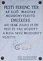 Plaque to Ferenc Pesti, 2020 Göd.jpg