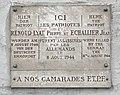 Plaque trilingue en hommages aux résistants Pierre Renoud-Lyat et Jean Echallier (Villefranche-sur-Saône, France).JPG