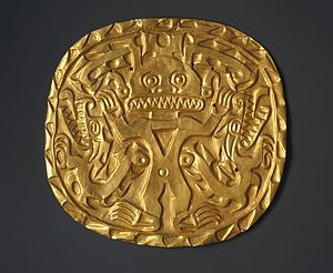 History of Panama (to 1821) - Plaque with Crocodile Deity, ca. 700-900. Brooklyn Museum; In Panama the Crocodile God was the principal deity for more than a thousand years and was most likely associated with strength, the sun and water, and fertility.