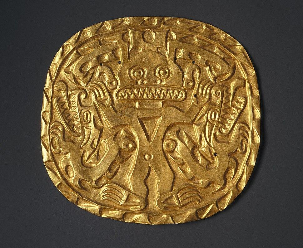 Plaque with Crocodile Deity, ca. 700-900.,33.448.12