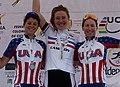 Podio CRI Damas Campeonato Panamericano de Ciclismo 2011.jpg