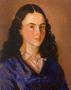 Women's rights in Colombia - Policarpa Salavarrieta, heroine of the Colombian Independence Movement. Portrait by Jose Maria Espinosa, 1855