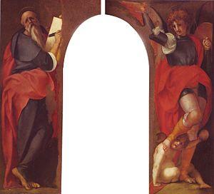 Saint John the Evangelist and the Archangel Michael