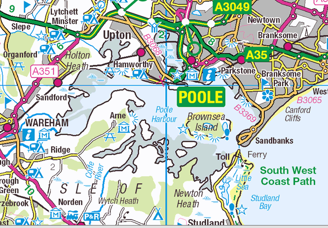 Poole Harbour OS OpenData map