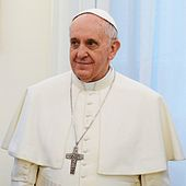 The incumbent Pope Francis after his election in March 2013