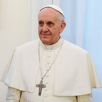 Pope Francis, the current leader of the Catholic Church Pope Francis in March 2013.jpg