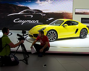 LA Auto Show - Chris Harris on Cars at the 2012 LA Auto Show talking about the presentation of the Porsche 981c Cayman