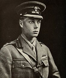 Edward is young, clean-shaven and in military uniform