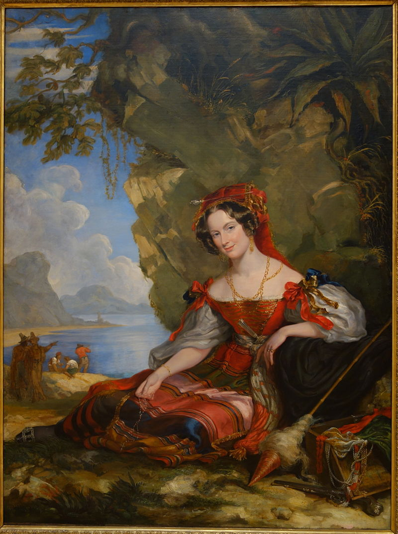 Portrait of Lady Caroline Montagu in Byronic Costume by George Hayter, 1831, oil on canvas, view 1 - Chazen Museum of Art - DSC02190.JPG