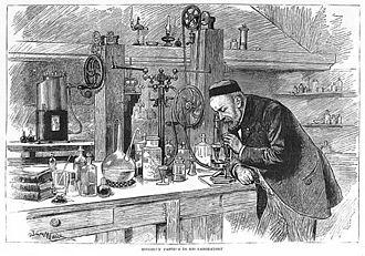 Fermentation - Louis Pasteur in his laboratory