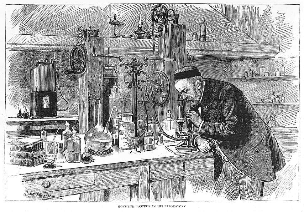 Portrait of Louis Pasteur in his laboratory Wellcome M0010355