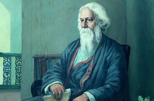 Portrait of Rabindranath Tagore photographed during Bengali Wikipedia 10th Anniversary Celebration Jadavpur University Campus5887